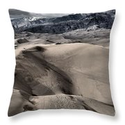 Evening At The Dunes Throw Pillow