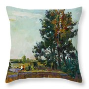 Evening At The Forest Edge Throw Pillow