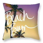 Evening Beach Bum Throw Pillow