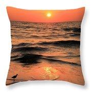 Evening Beach Stroll Throw Pillow