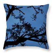 Evening Branches Throw Pillow