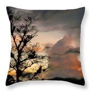 Evening Break In Rain Clouds Throw Pillow