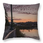 Evening By The River Throw Pillow