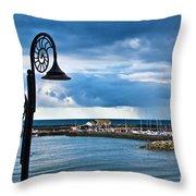 Evening Calm At Lyme Regis Throw Pillow