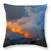 Evening Clouds And Half Dome At Yosemite Throw Pillow