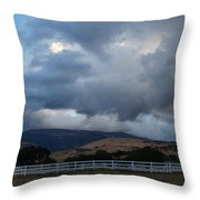 Evening Clouds Over Ashland Farm Country Throw Pillow