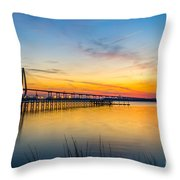 Evening Color Throw Pillow
