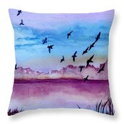 Evening Dance Throw Pillow