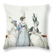 Evening Dresses For The Opera Throw Pillow