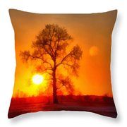 Evening Ember Sunset Throw Pillow