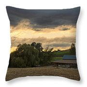 Evening Farm Scene Near Ashland Throw Pillow