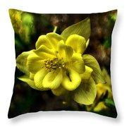 Evening Floral Throw Pillow