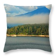 Evening Fog Throw Pillow