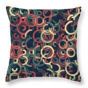 Evening Geometric Circle Segment Pattern Throw Pillow