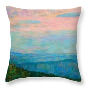 Evening Glow At Rock Castle Gorge  Throw Pillow