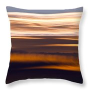 Evening Golds Throw Pillow