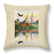 Evening Gong Of The Russian Church Throw Pillow