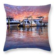 Evening Harbor Throw Pillow