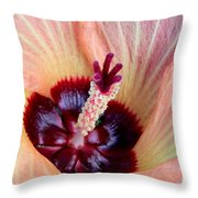 Evening Hau Blossom Throw Pillow