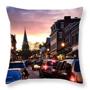Evening In Annapolis Throw Pillow