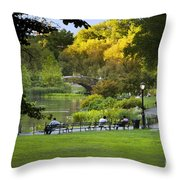 Evening In Central Park Throw Pillow