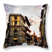 Evening In Florence Throw Pillow