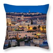 Evening In Jerusalem Throw Pillow