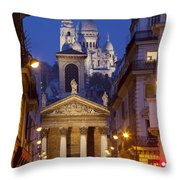 Evening In Paris Throw Pillow
