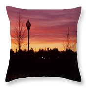 Evening In Riverfront Park Throw Pillow
