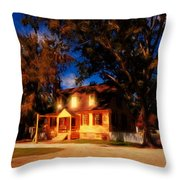 Evening In Small Town U. S. A. Throw Pillow