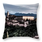 Evening In The Alhambra Throw Pillow