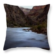 Evening In The Canyon Throw Pillow