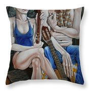 Evening In The Forest Throw Pillow