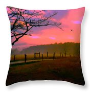 Evening In The Smokies Throw Pillow