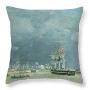 Evening Le Havre Throw Pillow