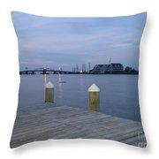 Evening Light At Chincoteague Sound  Throw Pillow