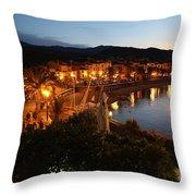 Evening Light In Collioure Throw Pillow