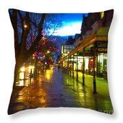 Evening Light On Lord Street Throw Pillow