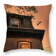 Evening Light On Old House Throw Pillow