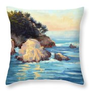Evening Light Point Lobos Throw Pillow