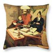Evening Light, Pub. In Lasst Licht Throw Pillow