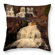 Evening Light Waterfalls Throw Pillow