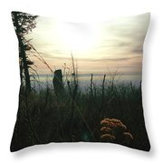 Evening Mist In Fall Throw Pillow
