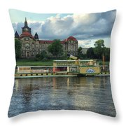 Evening Mood On The Elbe Throw Pillow