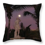 Evening Moon Throw Pillow by Shane Bechler