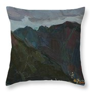 Evening Mountains In The Gulf Throw Pillow