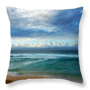 Evening North Shore Oahu Hawaii Throw Pillow