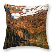 Evening On The Great Divide Painted Throw Pillow
