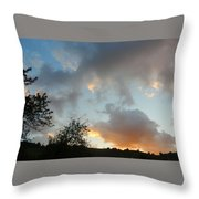 Evening On The Hill Throw Pillow