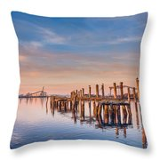 Evening On The Humboldt Bay Throw Pillow
